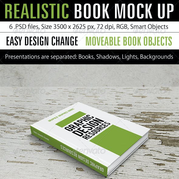 Realistic Book Mock Up