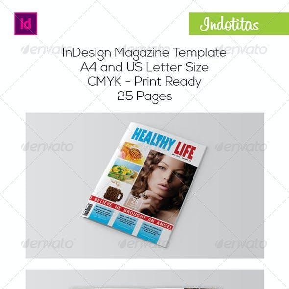 Healthy Life Magazine Template
