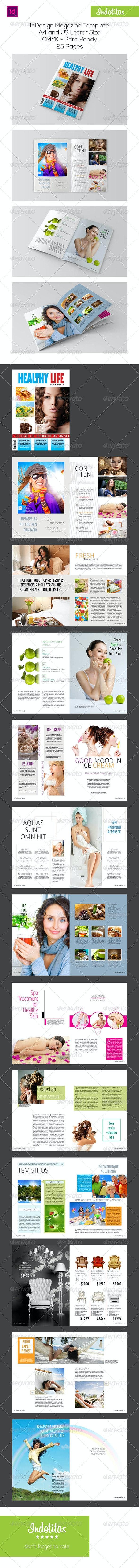 Healthy Life Magazine Template - Magazines Print Templates