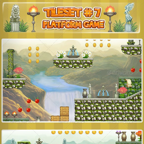 2D Tileset Platform Game 7