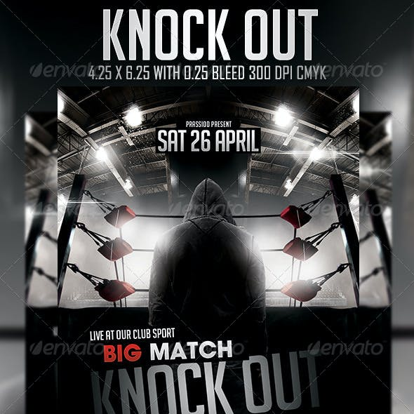 Knock Out Flyer Template