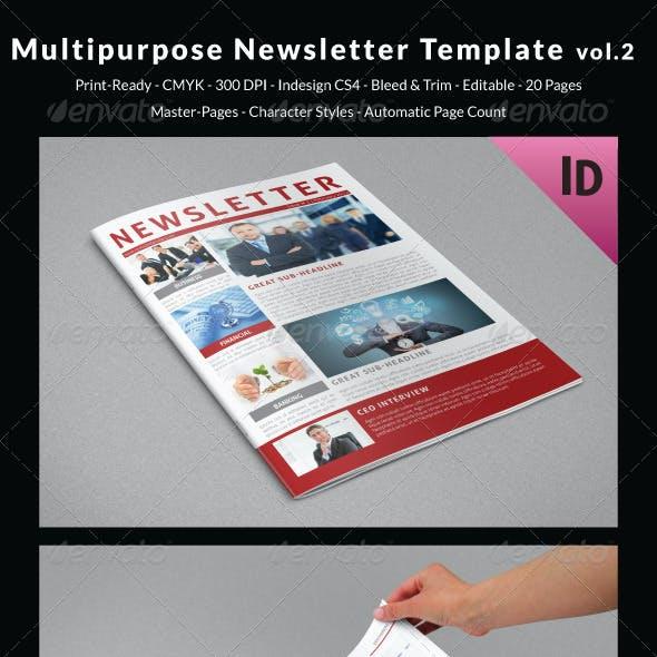 Multipurpose Newsletter Template vol.2