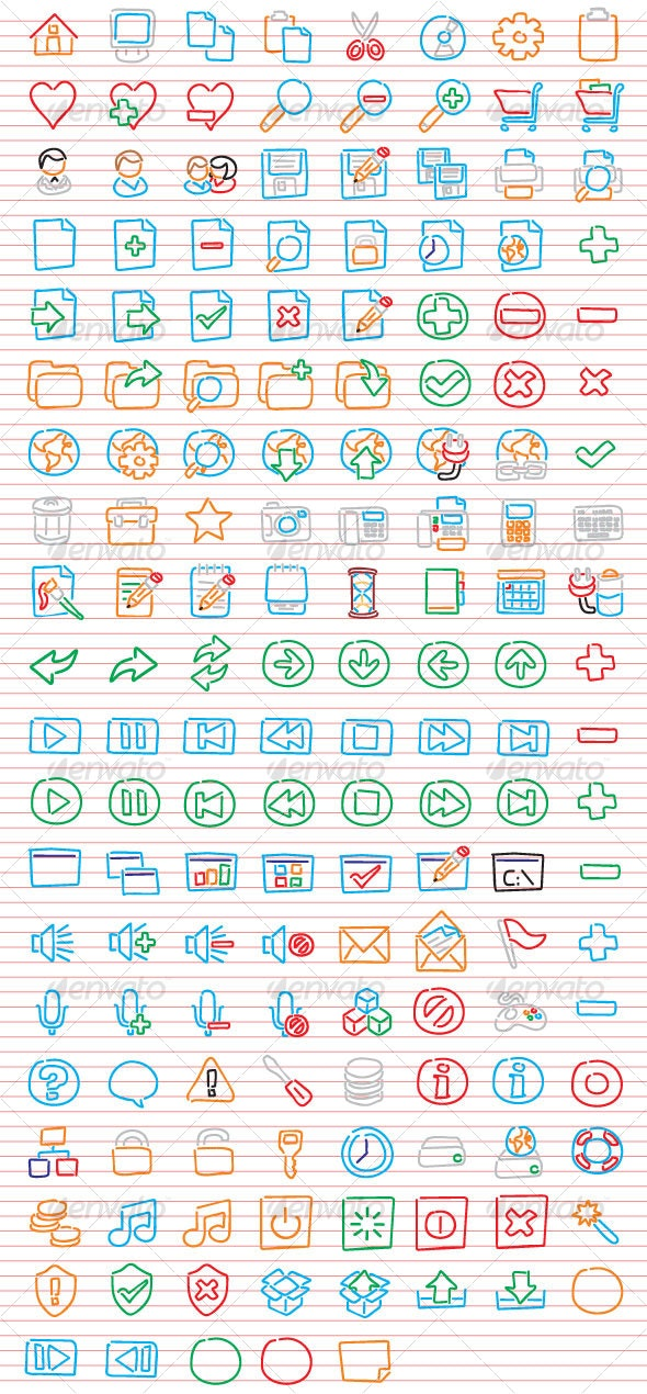 Freehand Icons - Web Icons