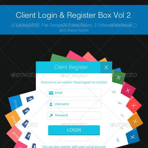 Client Login & Register Box Vol 2