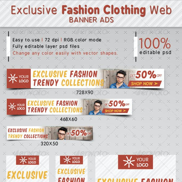 Exclusive Fashion Clothing Ads