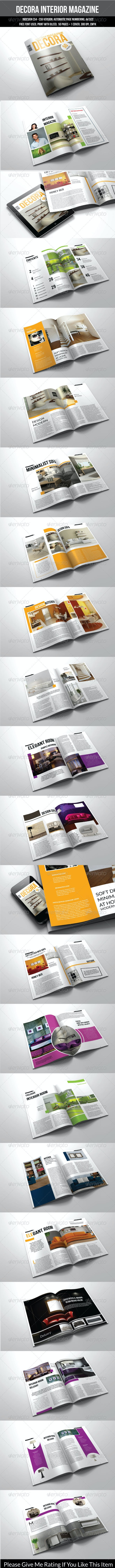 50 Pages A4 Indesign Magazine Template - Magazines Print Templates