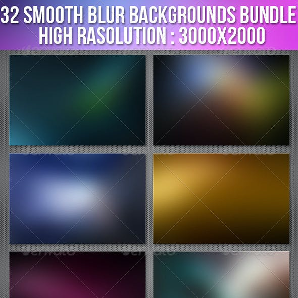 32 Smooth Blur Background Bundle