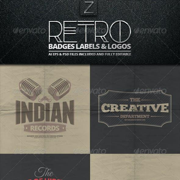 Retro Badges, Labels & Logos