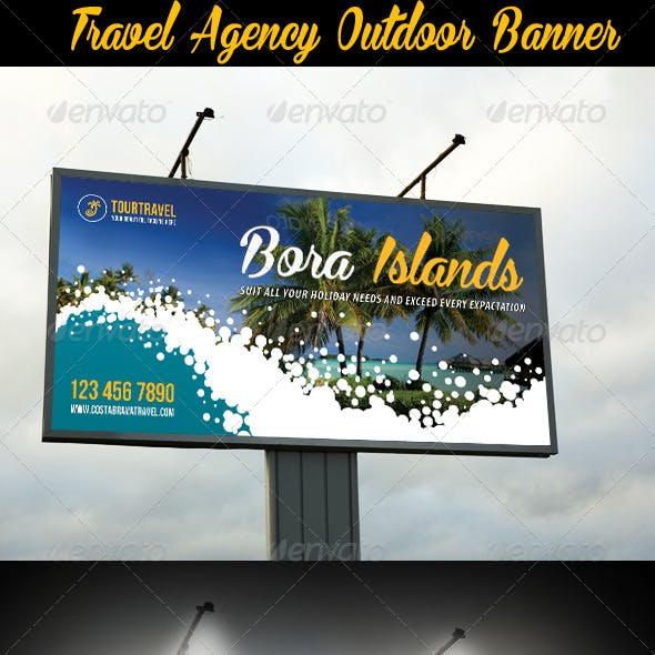 Travel Agency Outdoor Banner 03