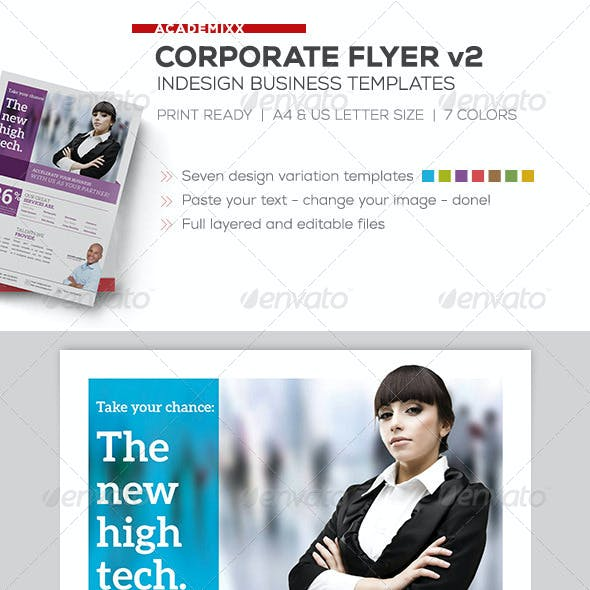 Corporate Flyer - US Letter and A4 size v2
