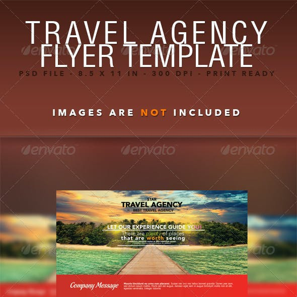 Travel Agency Flyer Template by FatiF | GraphicRiver