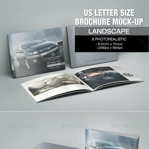 US Letter Size Brochure Mock-up