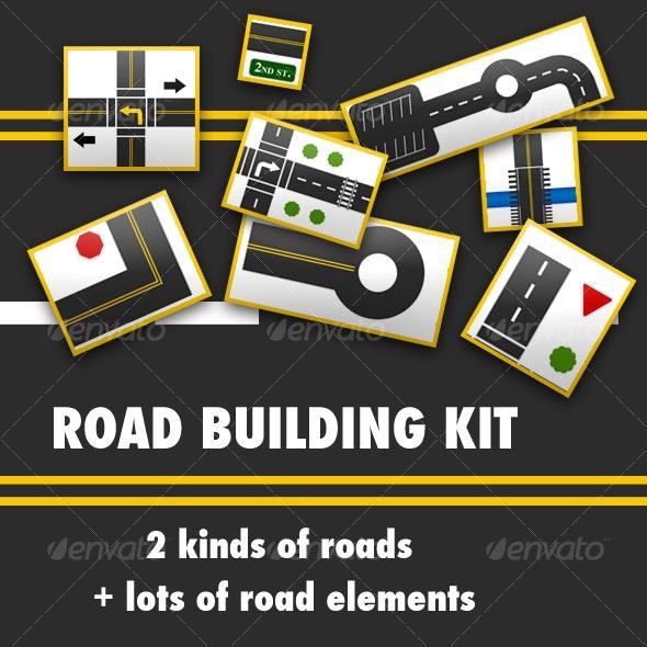 Road Building Kit - Scenes Illustrations