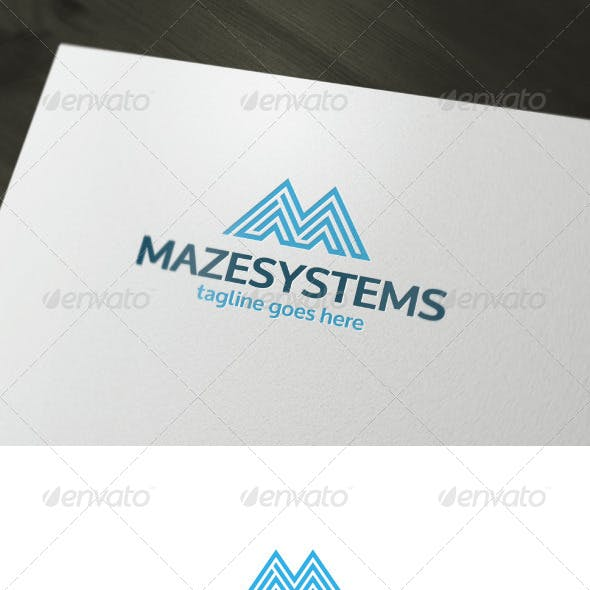 Maze Systems Logo — Letter M