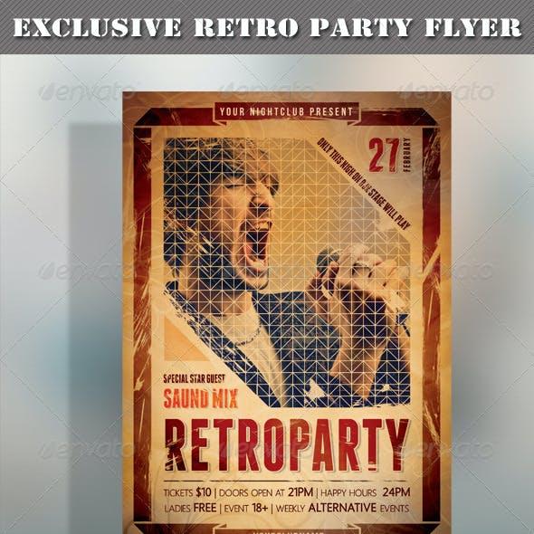 Retro Party Flyer 01