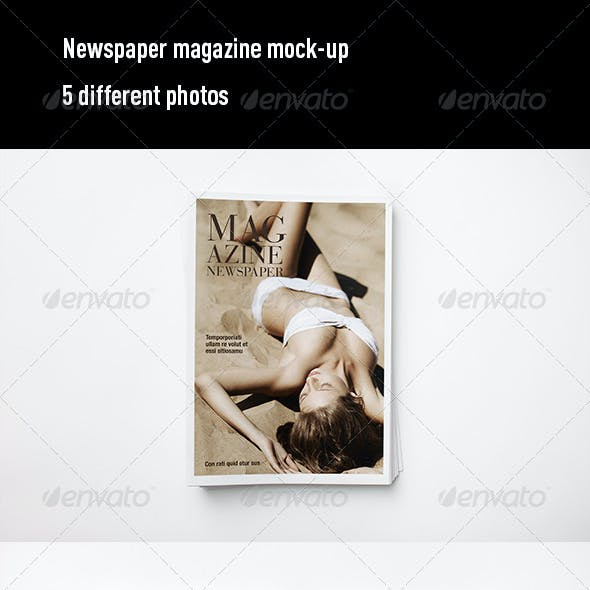 Newspaper Magazine Mock Up