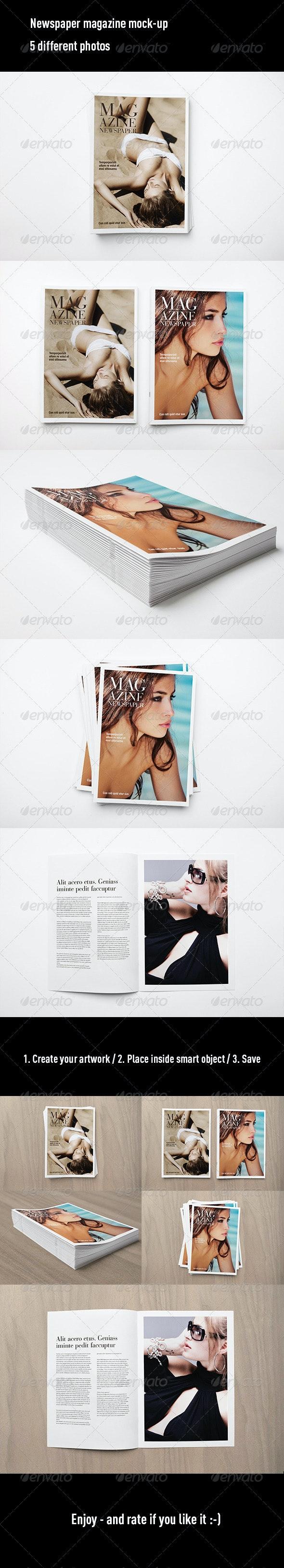 Newspaper Magazine Mock Up - Magazines Print