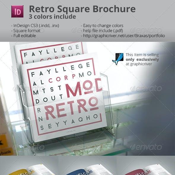 Retro Style Square Brochure Indesign
