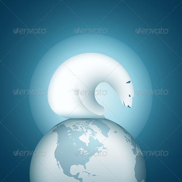 Polar Bear on the World Sphere
