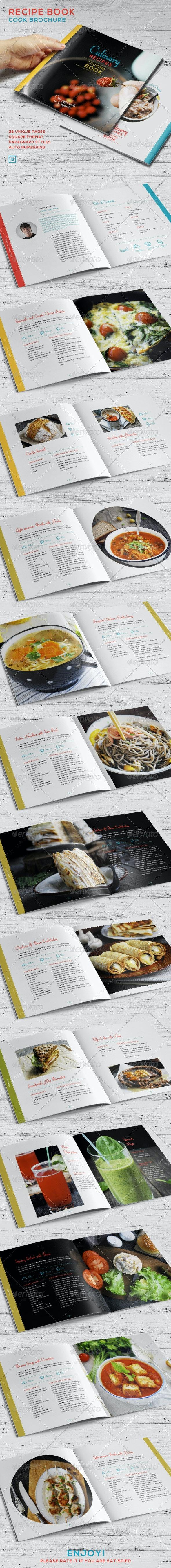 Recipe Book - Cook Brochure - Brochures Print Templates