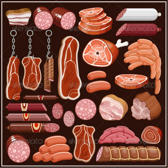 Set of Meat Products
