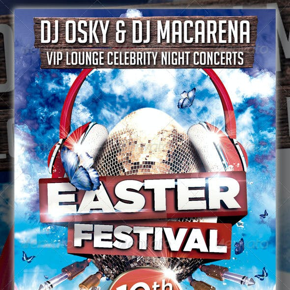 Easter Festival Party Flyer