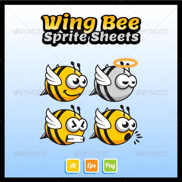 Wing Bee Sprite Sheet