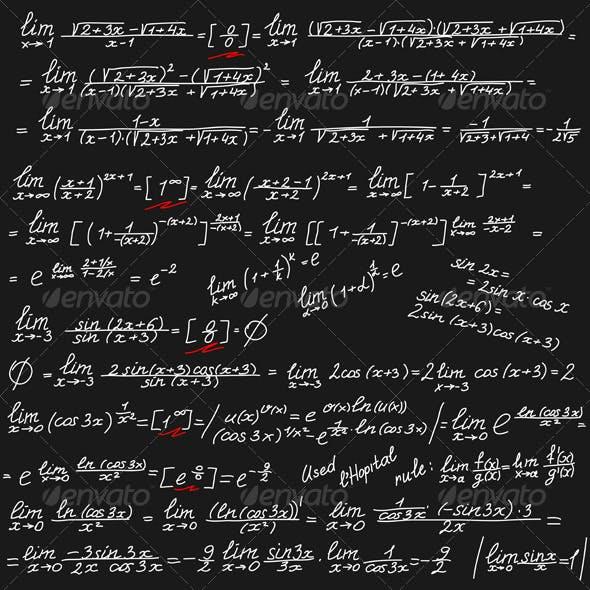 Background with Mathematical Symbols