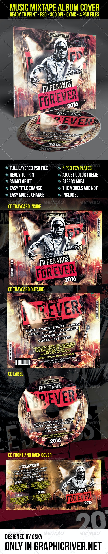 Music Mixtape Album Cover - CD & DVD Artwork Print Templates
