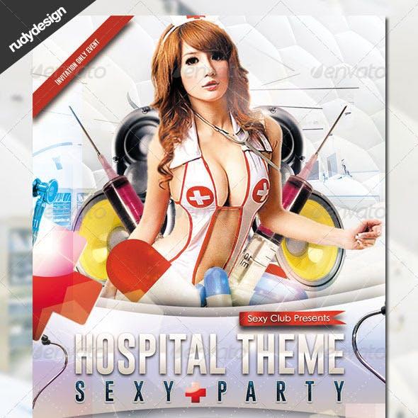 Hospital Theme Party Flyer Template