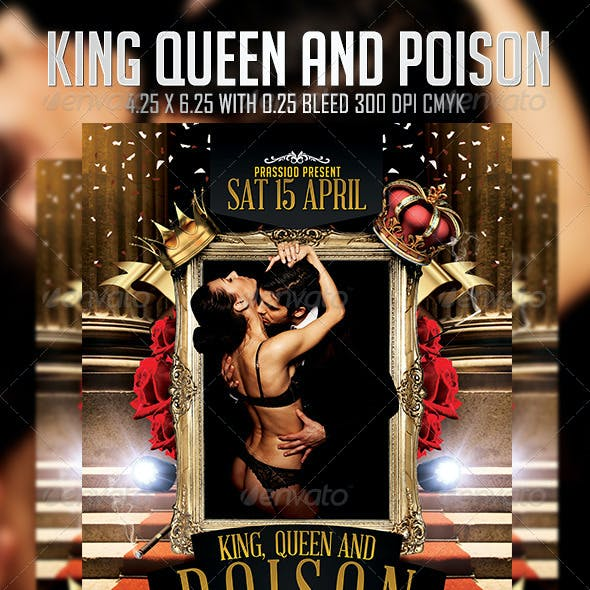 King Queen And Poison Flyer Template