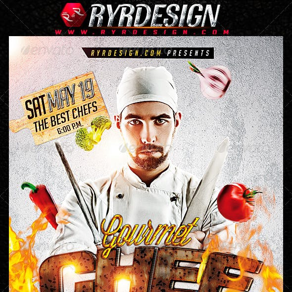 Chef Food Contest Flyer PSD