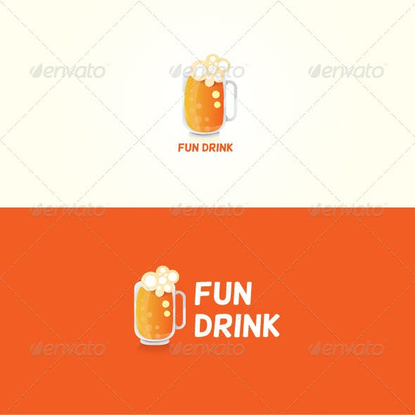 Fun Drink Stock Logo Template