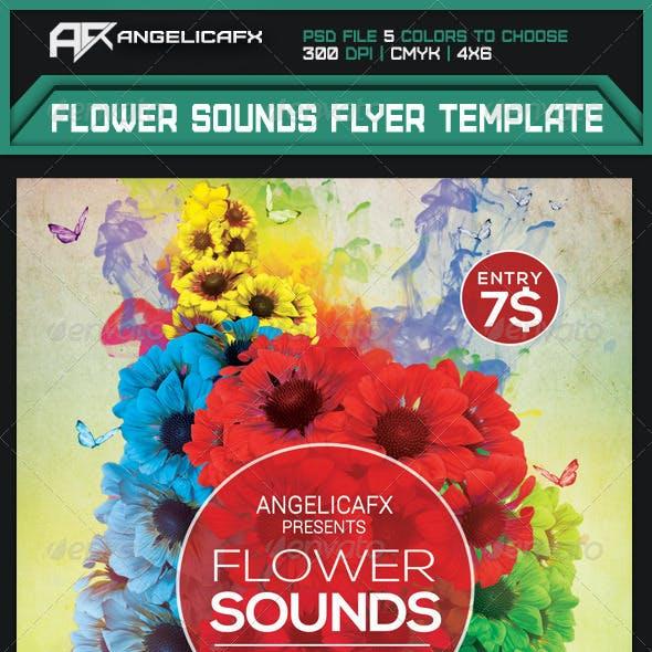 Flower Sounds Flyer Template
