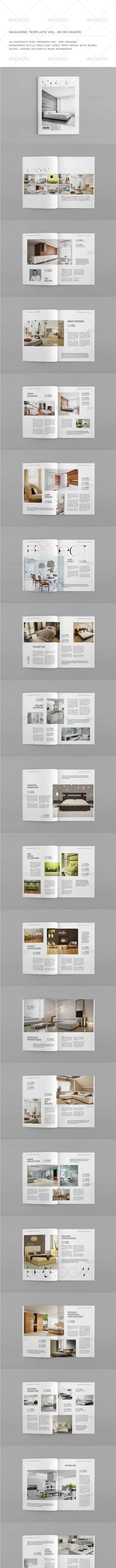 A5 Portrait 50 Pages MGZ (Vol. 28) - Magazines Print Templates
