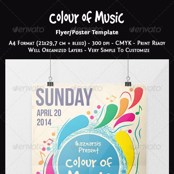 Colour of Music Flyer Template