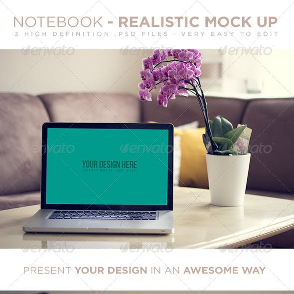 Laptop - Realistic Mock Up