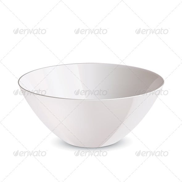 Bowl isolated