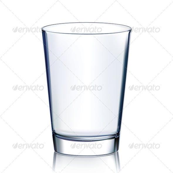 Empty Glass Non Transparent