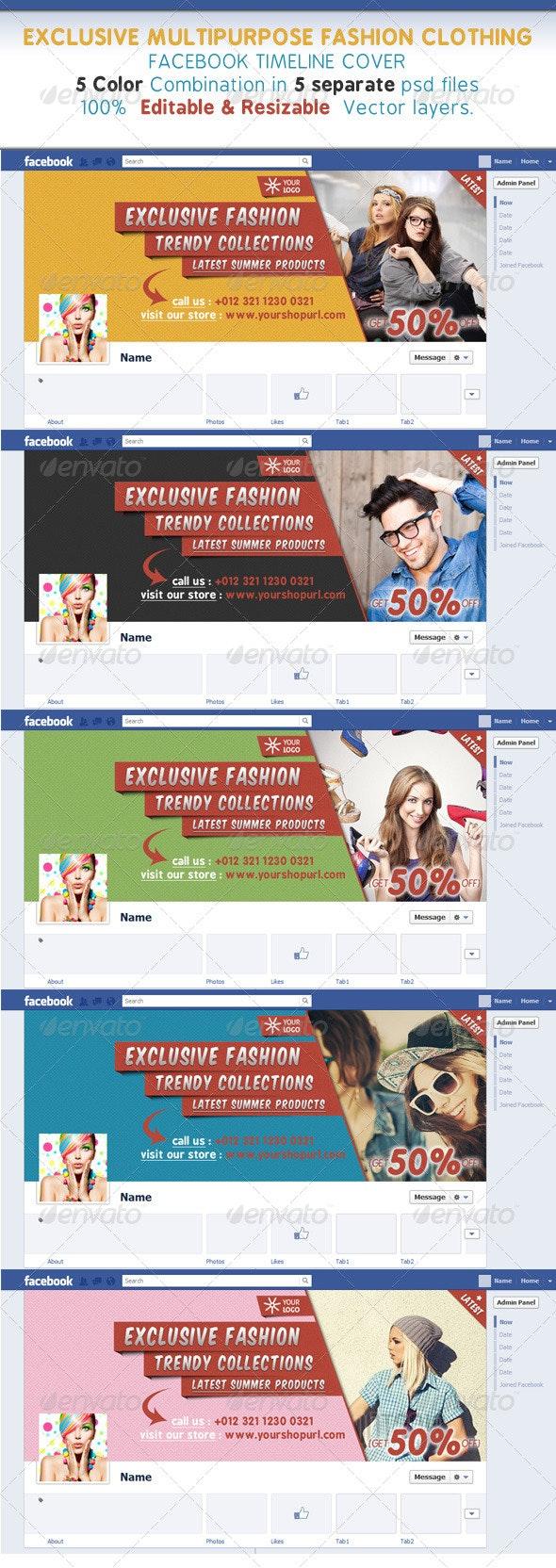 Glamour & Fashion Clothing Facebook Timeline Cover - Facebook Timeline Covers Social Media