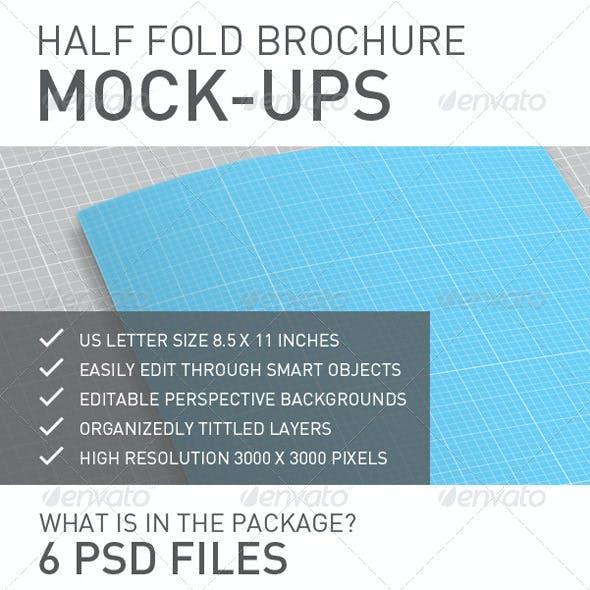 Half Fold / Bi Fold Brochure Mock-ups