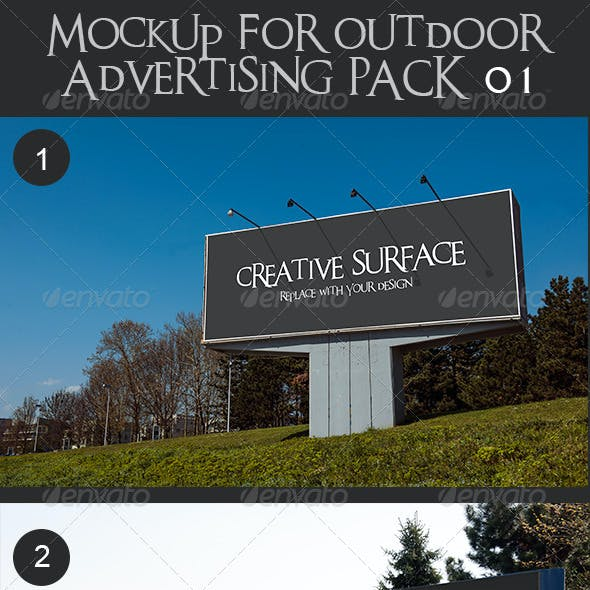 10 Mock Up's for Outdoor Advertising