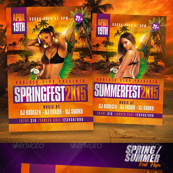 Spring / Summer Fest Party Flyer