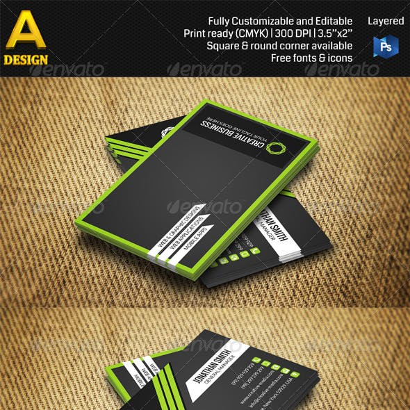 Corporate Business Card AN0318