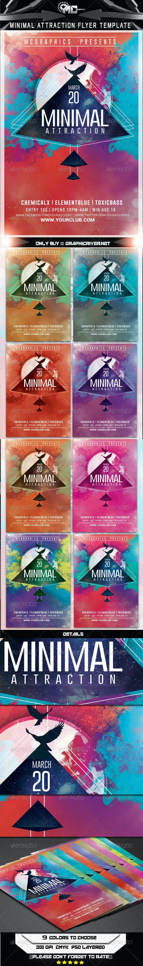 Minimal Attraction Flyer Template - Flyers Print Templates