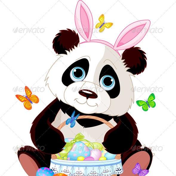 Panda with Easter Basket