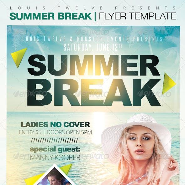 Summer Break Party Flyer Template