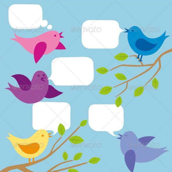 Card with Birds