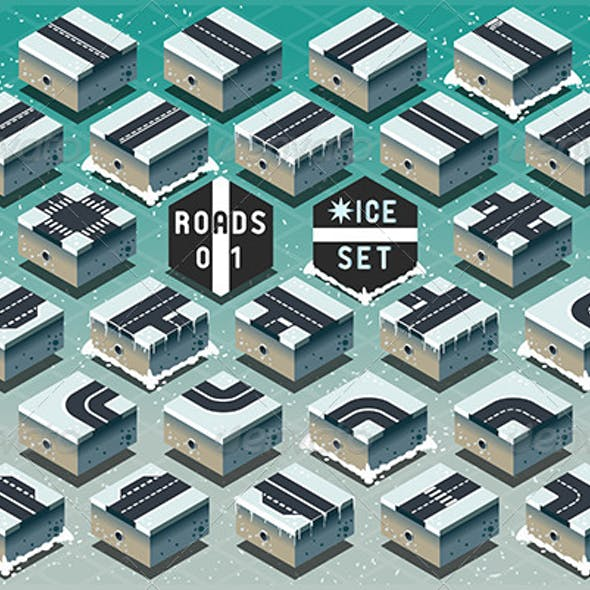 Isometric Roads on Frozen Terrain