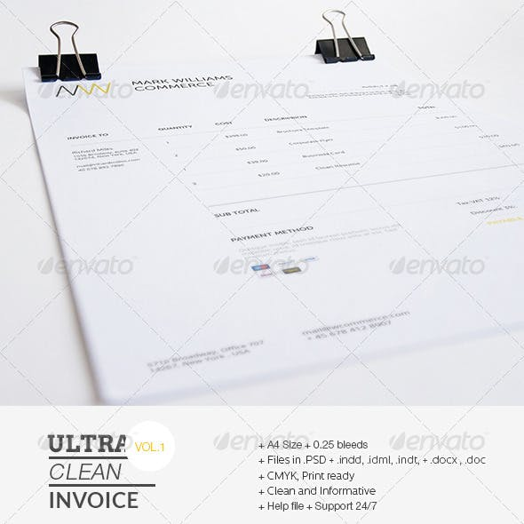 Ultra Clean Invoice